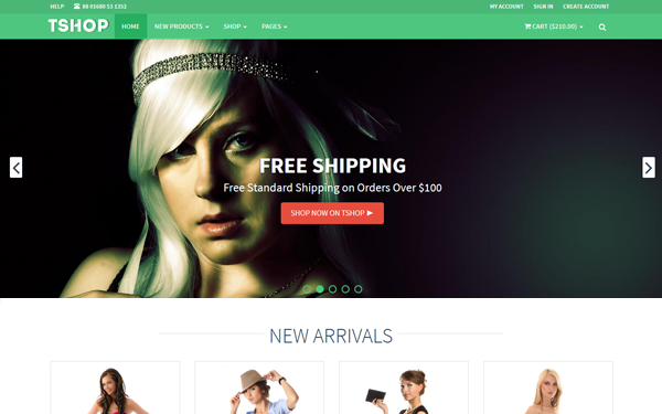 Fashion model agency templates sample Responsive E-Commerce ...