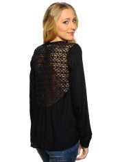 Only Tina Bluse black