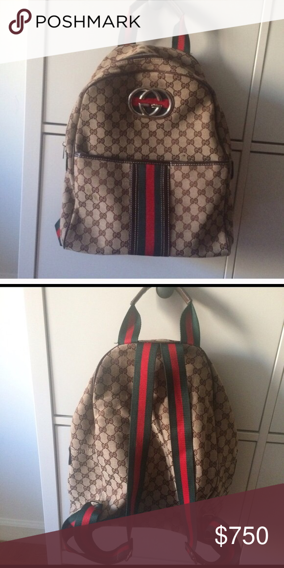 6f6febcf6c81 GG Supreme backpack The Web is found along the front of a GG Supreme canvas  backpack