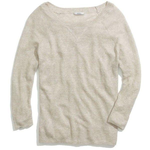 Madewell MADEWELL Sweatshirt Sweater ($70) ❤ liked on Polyvore