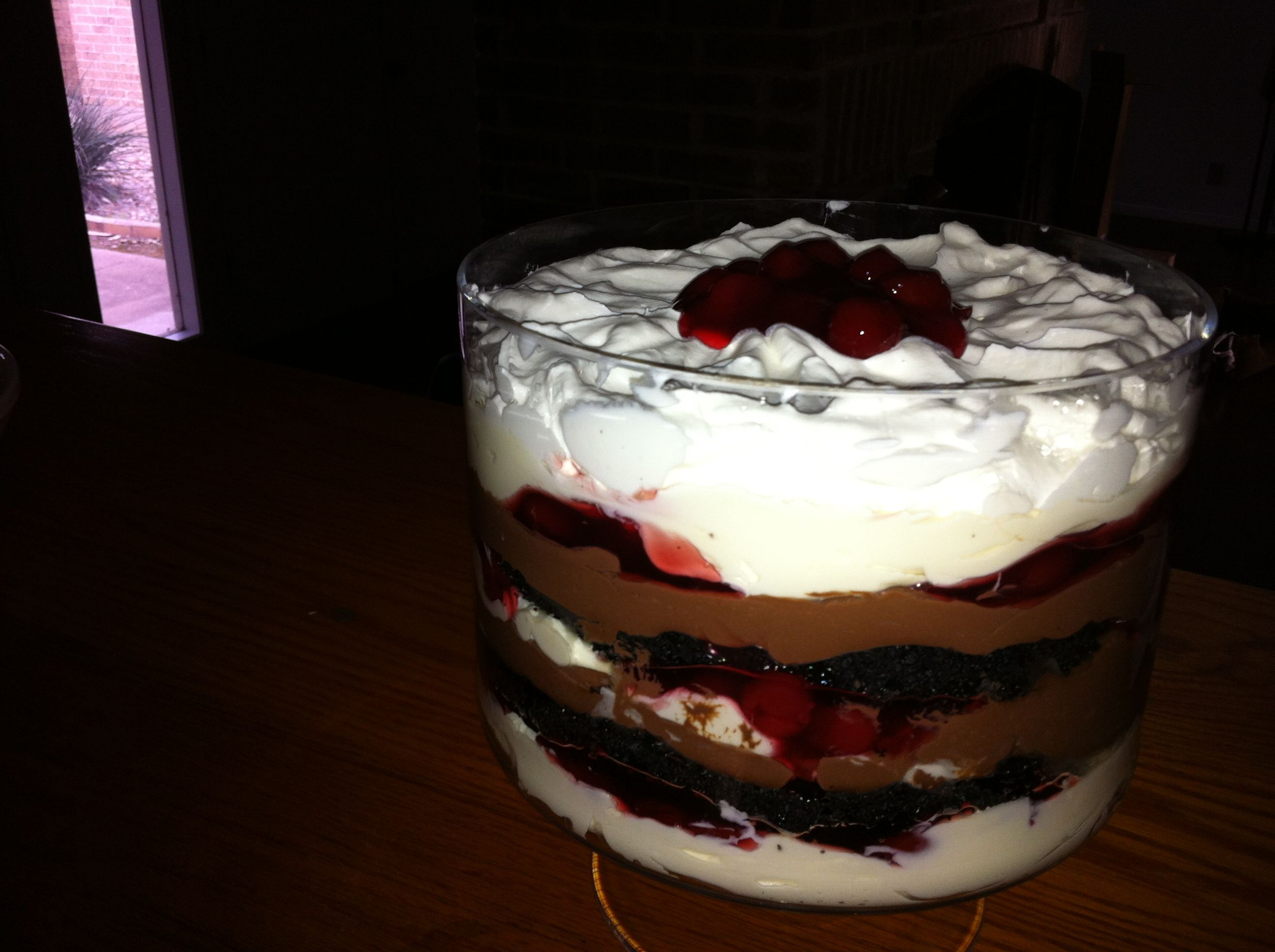 Triple-Chocolate Peppermint Trifle Recipe — Dishmaps