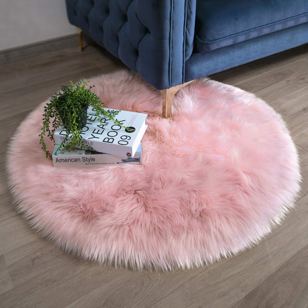 Ashler Soft Faux Sheepskin Fur Chair