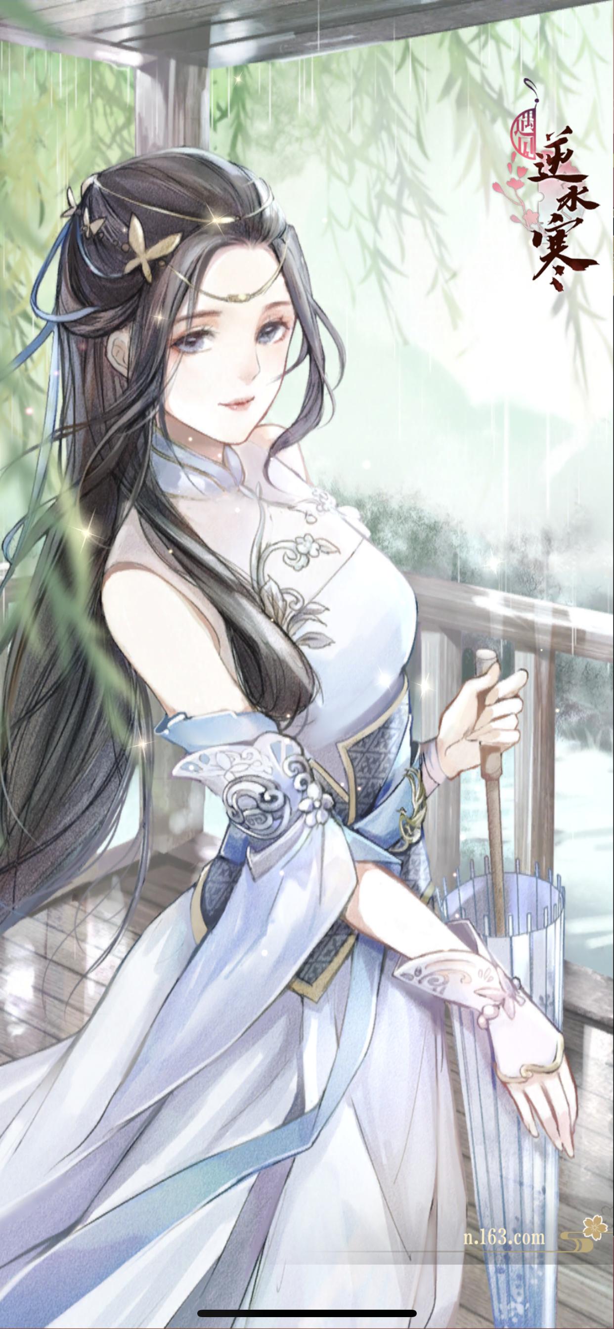 憑樓聽雨·葉雪青 Chinese art girl