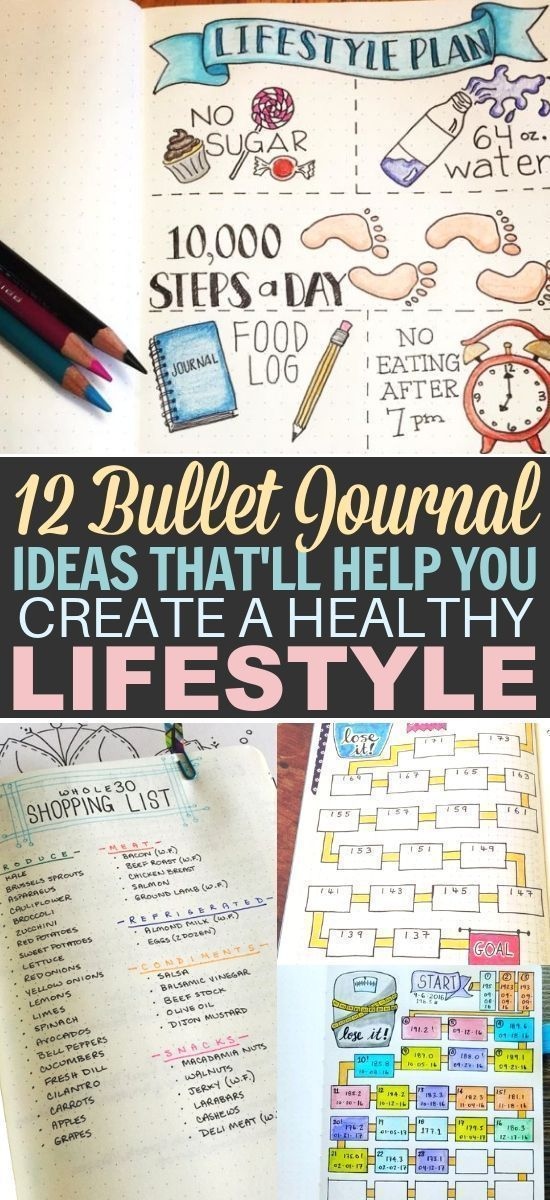 Bullet Journal for Weight Loss: 12 Pages for Smashing Fitness Goals -  Fitness Goals - #Bullet #Fitn...