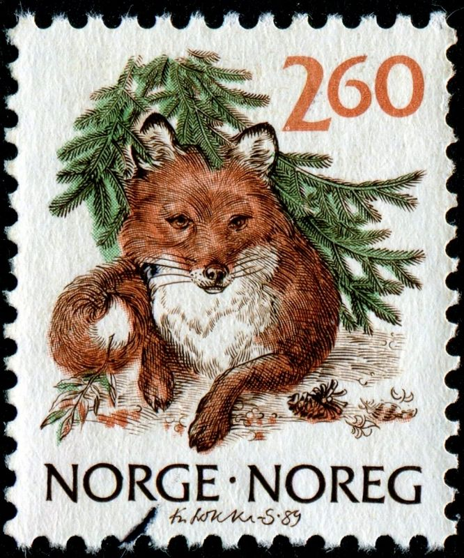 "Norway 2kr60ø 1989 ""Fox"" Matchbook art, Art journaling"