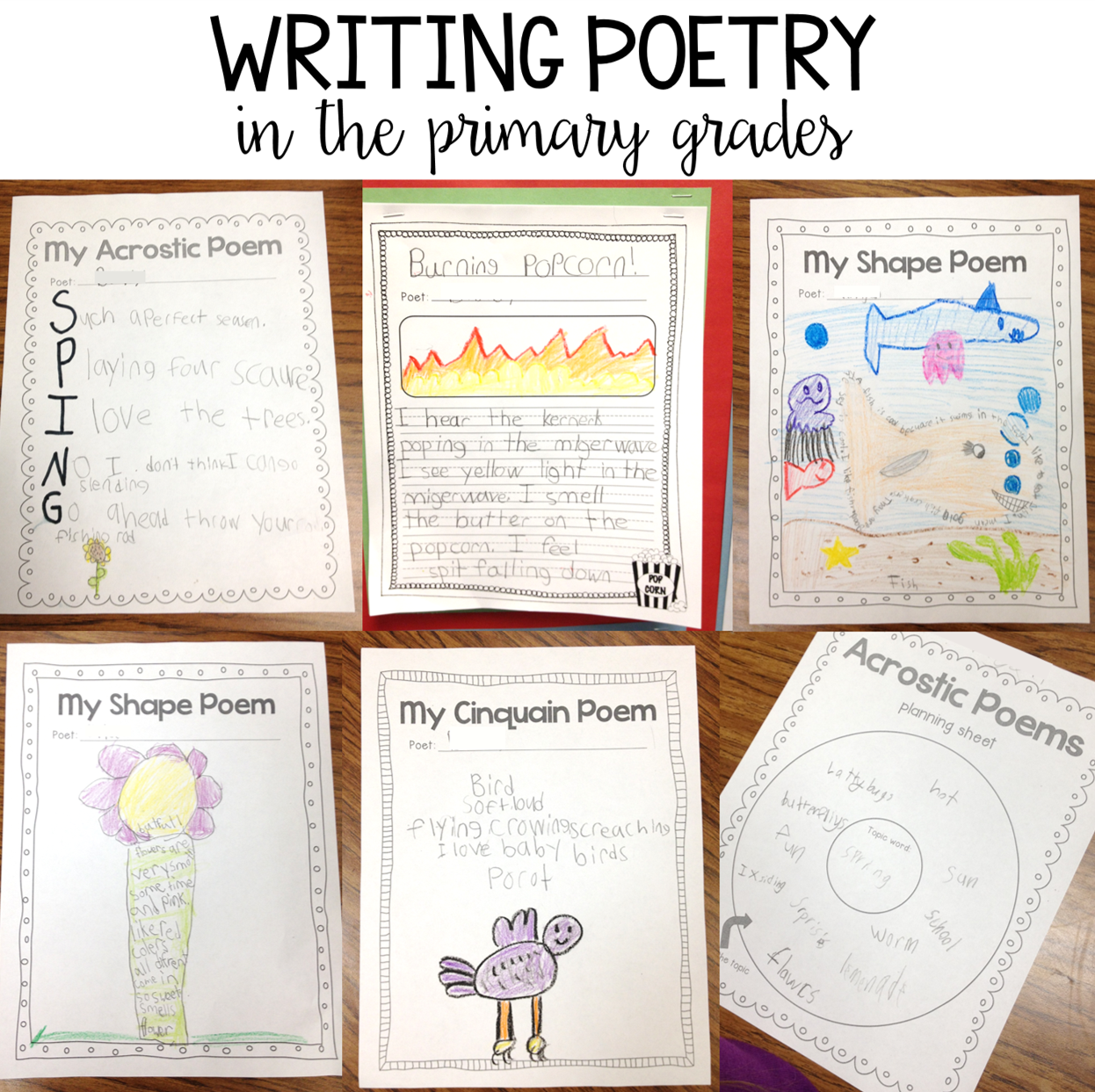 Susan Jones Teaching: Writing Poetry in the Primary Grades