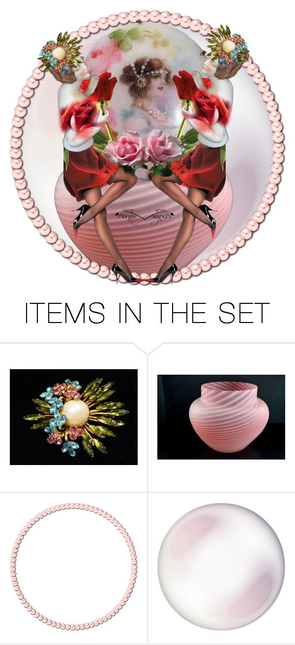 """""""Rose Bowl"""" by pattysporcelainetc ❤ liked on Polyvore featuring art, vintage and country"""