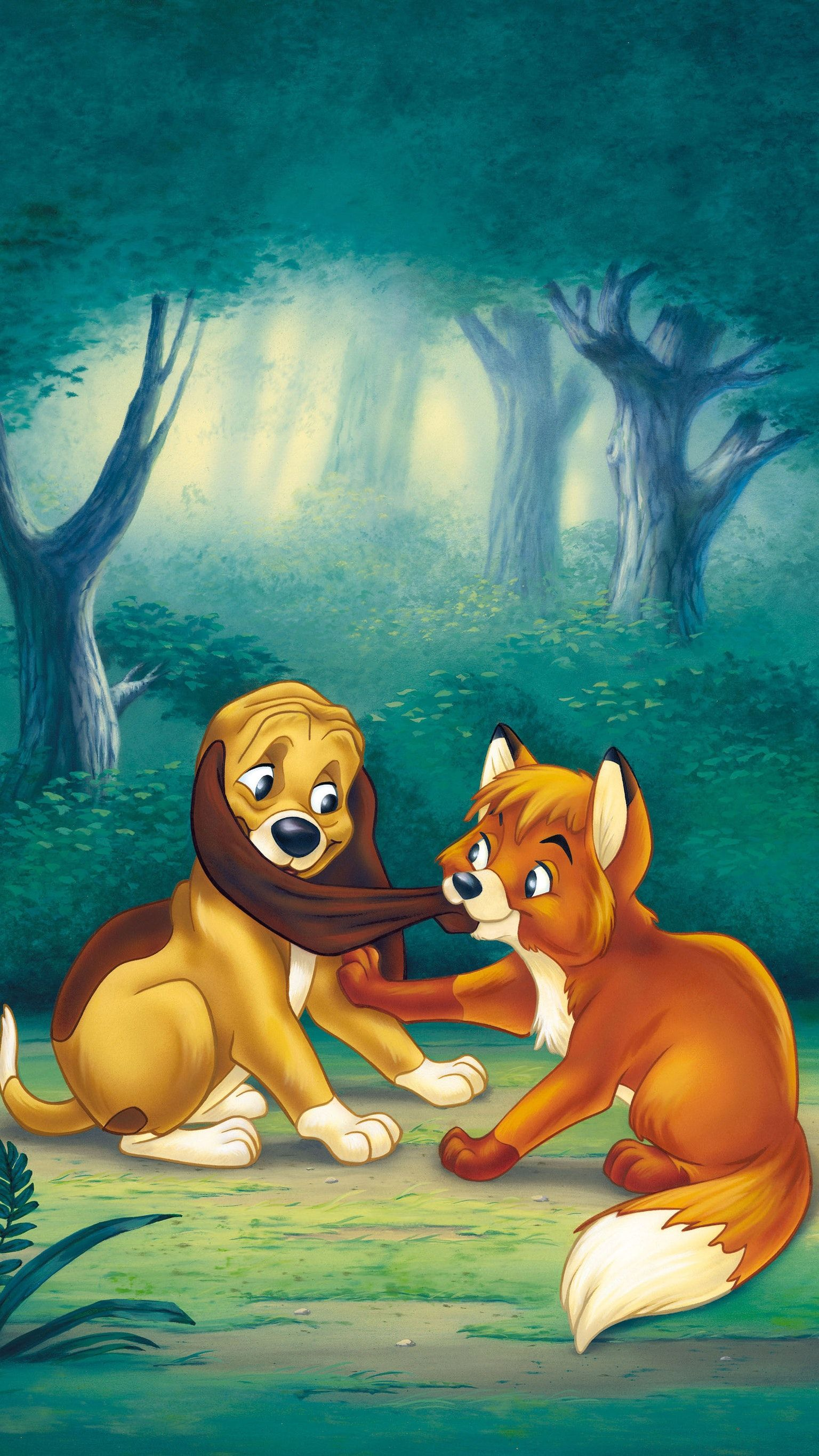 The Fox And The Hound 1981 Phone Wallpaper Moviemania The Fox And The Hound Disney Posters Hound