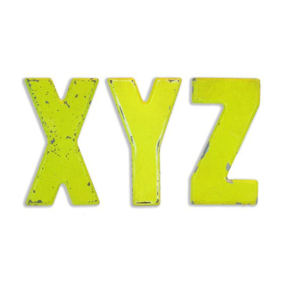 10 Vintage Metal Letters XYZ - Marquee Signage - Alphabet Sign ...