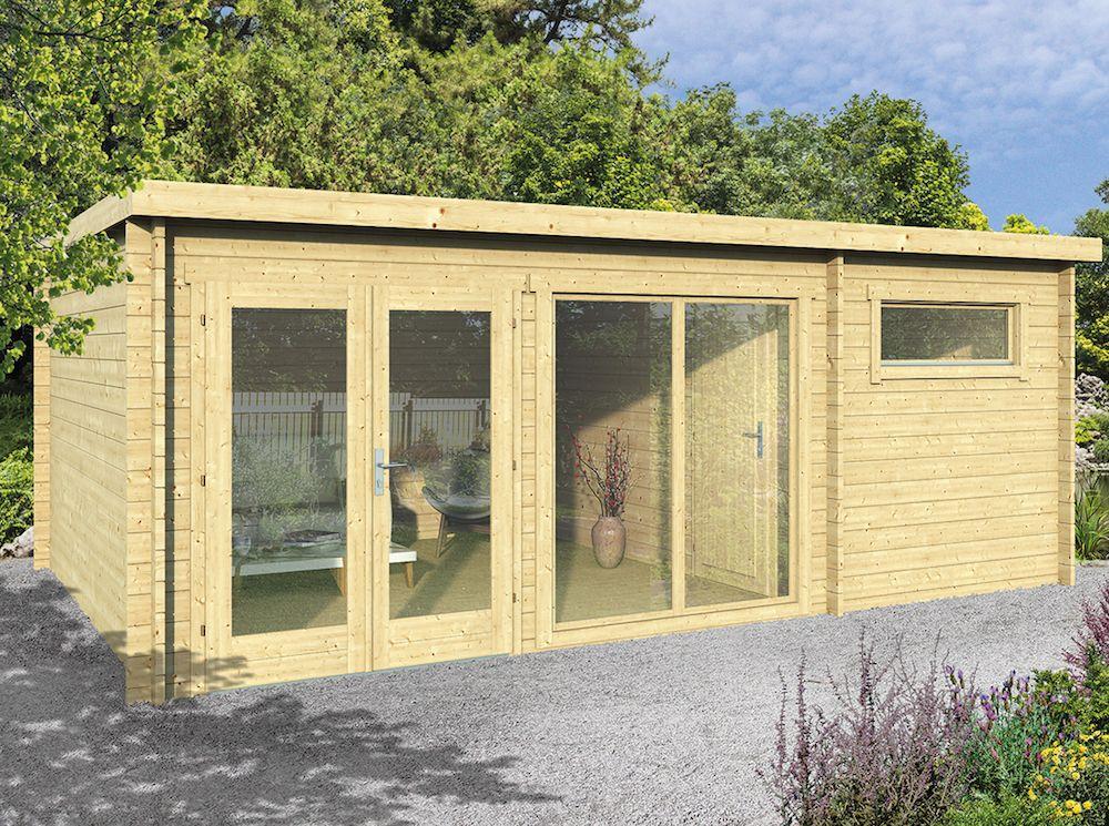 Flow Log Cabin 5.95 x 4.0m Garden buildings direct