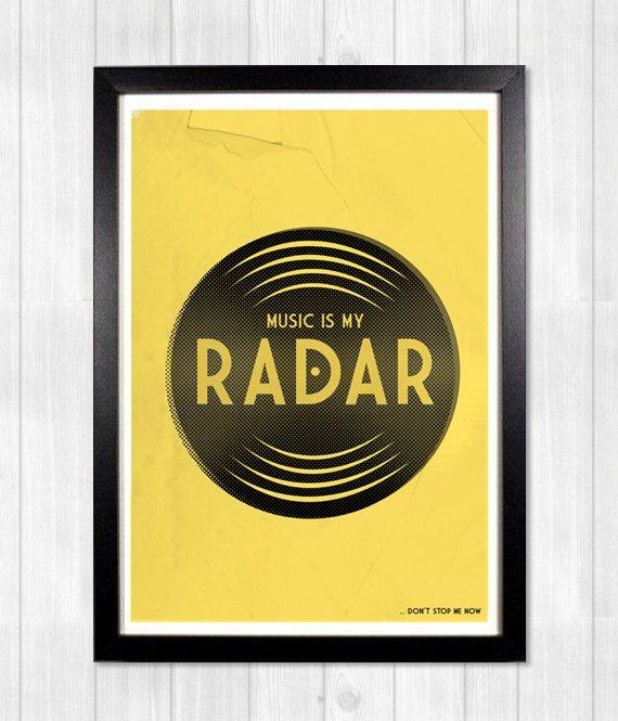 20 Off Blur Print Music Is My Radar Music Poster Music Print Lyrics Print In 2021 Music Poster Music Print Blur Print