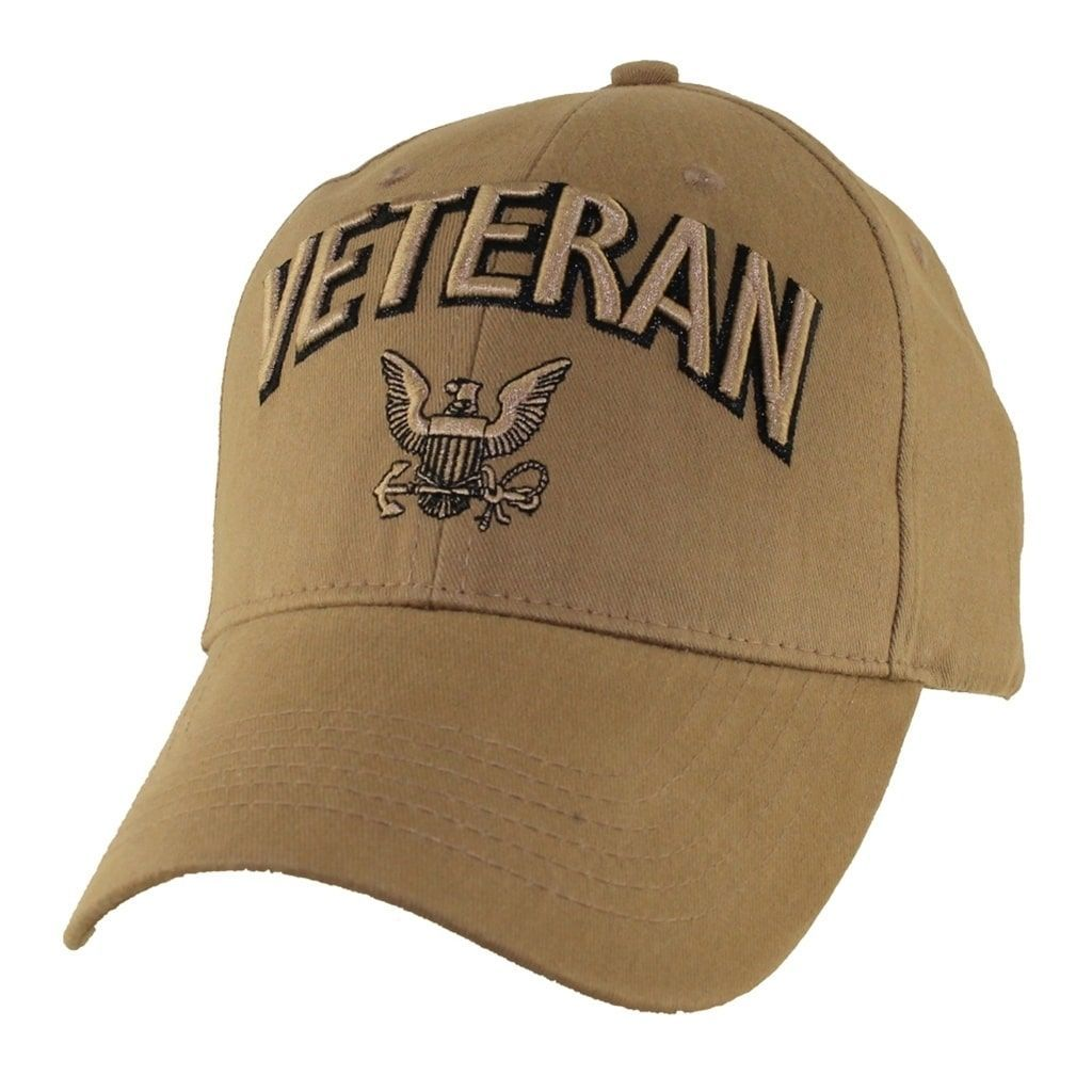475e77b7d1a03 US Navy Veteran Baseball Hat Coyote