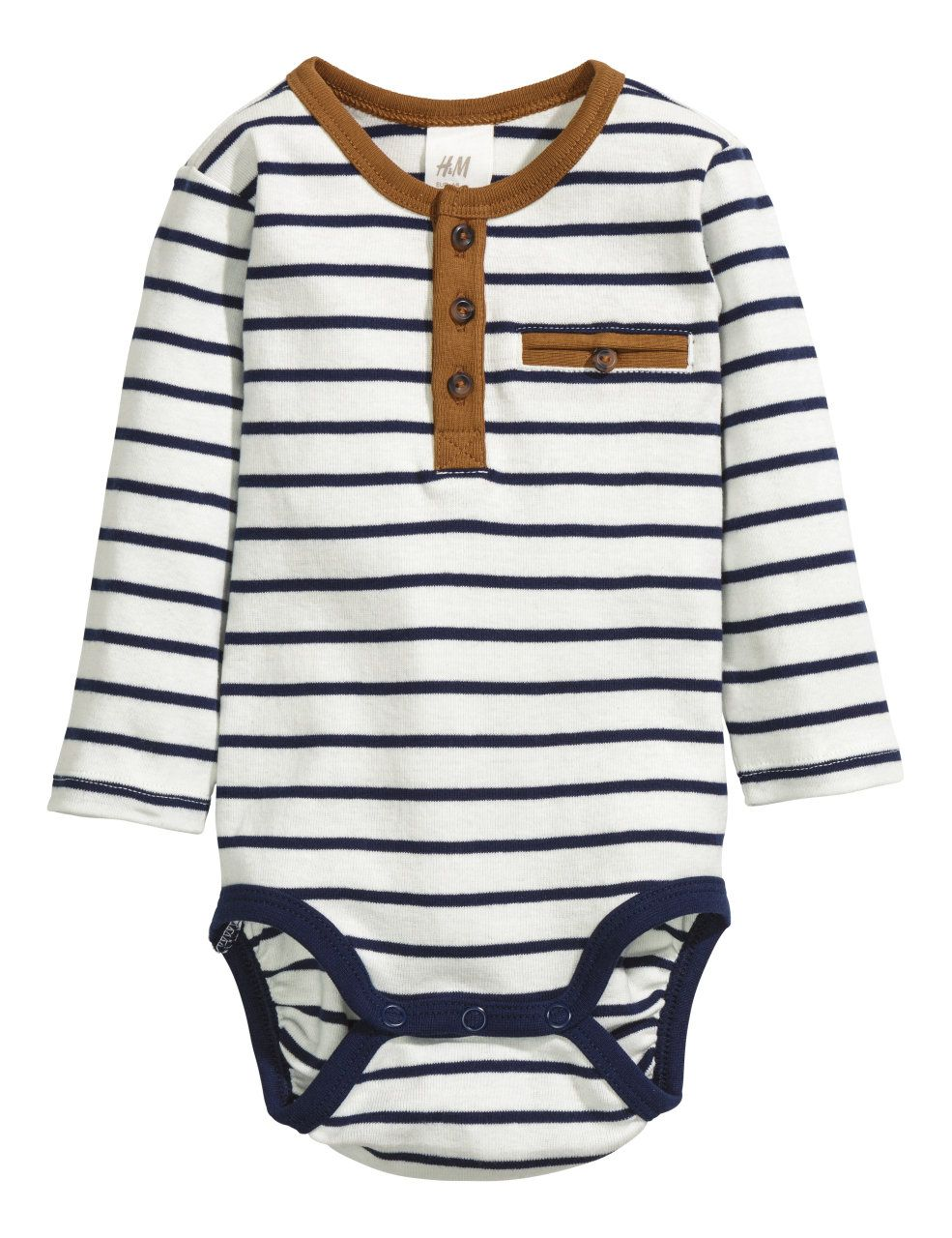 1e99828e1 H&M navy and white striped baby romper | baby boy H&M clothing rompers