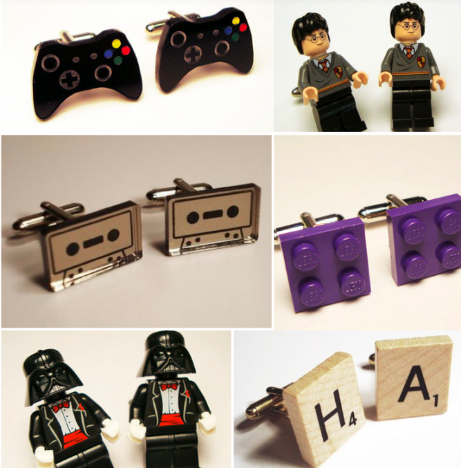 41 Unique Wedding Gift Ideas For Bride And Groom In 2020: Unique Cufflinks For The Geeky Groom