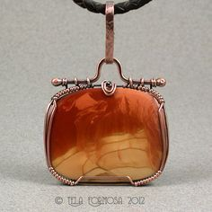 Wire Wrapped Bruneau Agate From Idaho