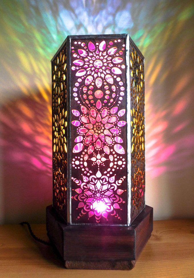 Aum Indian Summer Lamp, Floor Lamp, Desktop Lamp, Yoga Lamp, Wooden Lamp