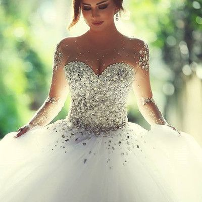 Princess Wedding Dresses With Bling Corset