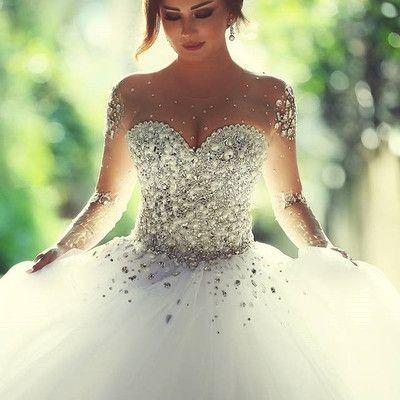 Princess Wedding Dresses With Bling Corset