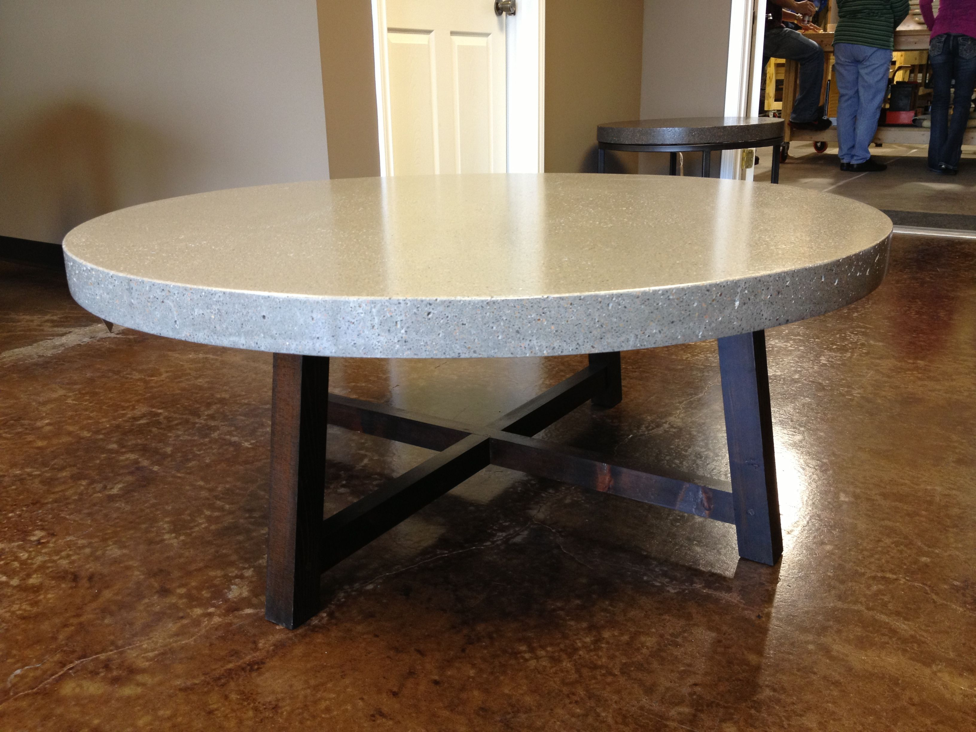 """Large 48"""" Coffee Table In Color Azule. Call"""