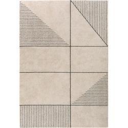 Photo of benuta short pile carpet Narvik Cream 240×340 cm – Modern carpet for living room benuta