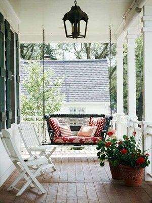 Porch Swing By Anibelle Porch Swing Front Porch Decorating
