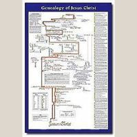 The genealogy of jesus christ is an extra large laminated wall chart that traces  also best images bible rh pinterest