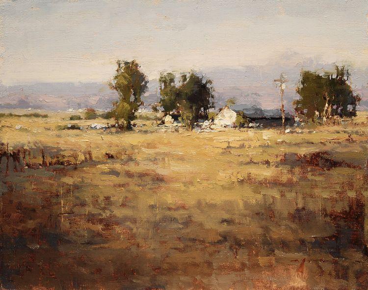 Oregon Morning by Jeremy Mann Oil painting landscape