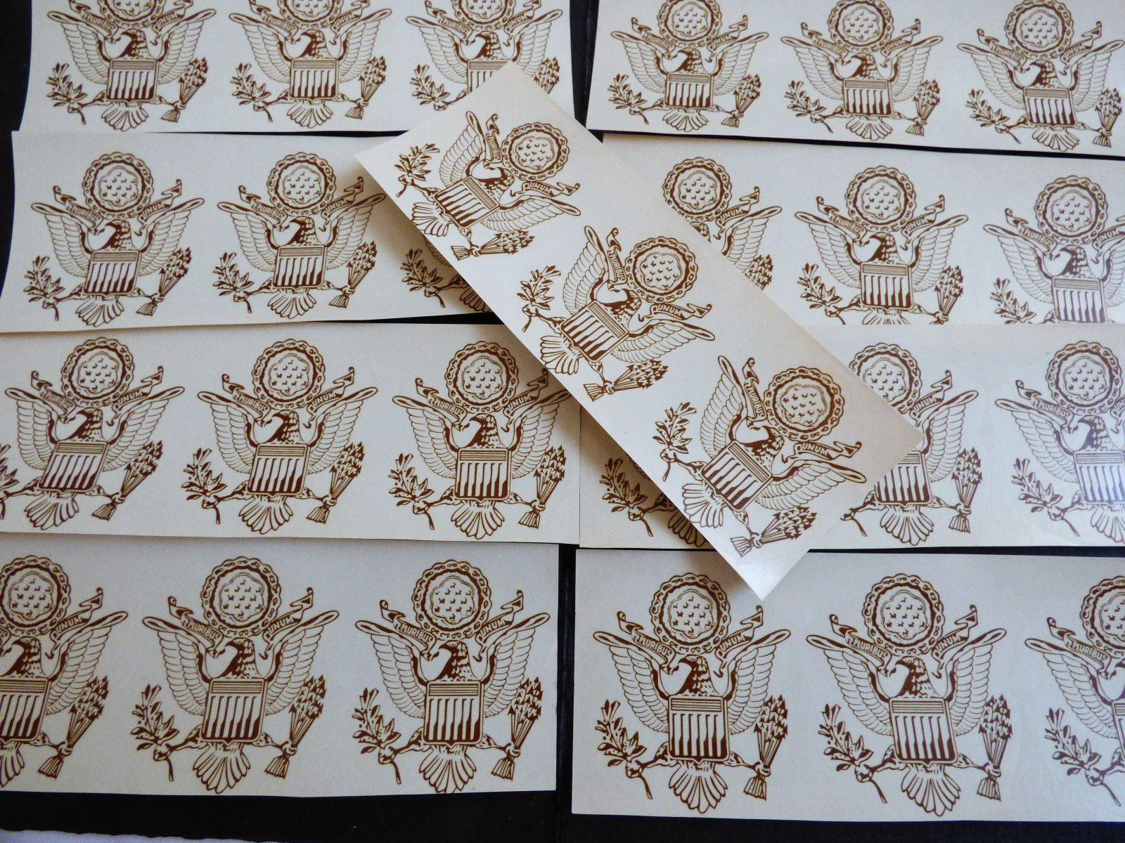VTG lot of 27 US Great Seal Eagle coat of arms Ceramic Decals | eBay