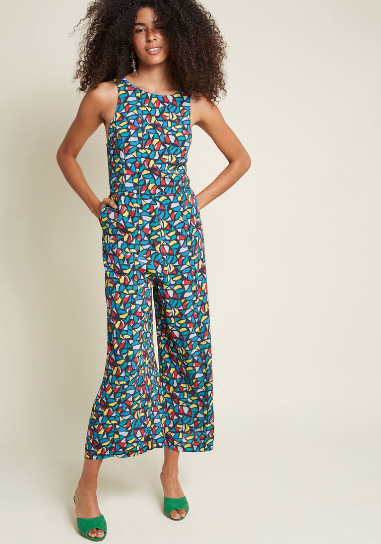 8991395412ed Pepaloves Whimsical Whereabouts Wide-Leg Jumpsuit in