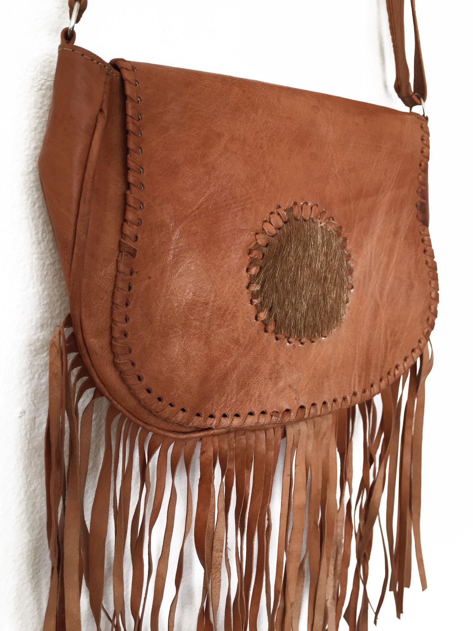 Sahara Fringe Bag 100% Handmade 9632e42342253