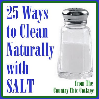 25 Ways To Clean Naturally With Salt - DIY & Crafts For Moms