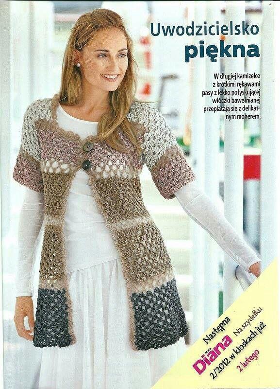 Chaleco largo en colores | Crochet Chalecos | Pinterest | Chalecos ...