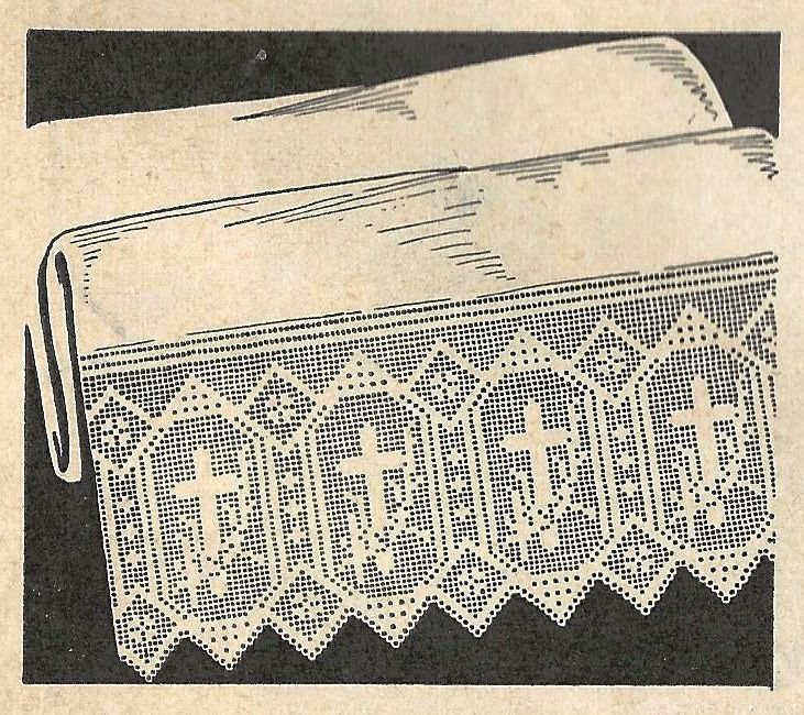 Altar Cloth PATTERN Filet crochet for Altar Cloth Lace with Crosses ...