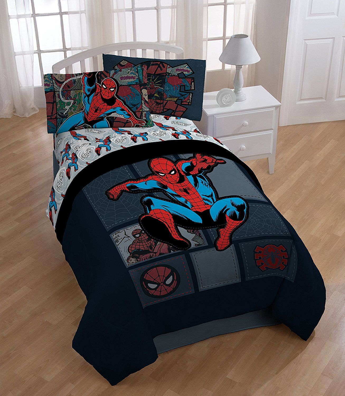 Spiderman and friends bedding - Amazon Com Spiderman Jump Twin Sheet Set And Comforter Bedding Bath