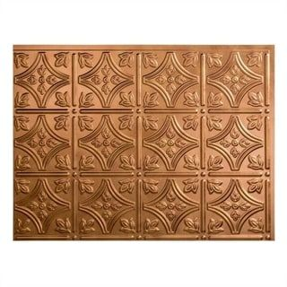 Fasade Traditional Style 1 Antique Bronze Backsplash 18 Inch X 24 Panel Gold
