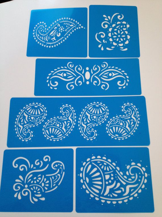 Henna Mehndi Deco Kit 6 Pcs Cake Decorating Stencils I Would