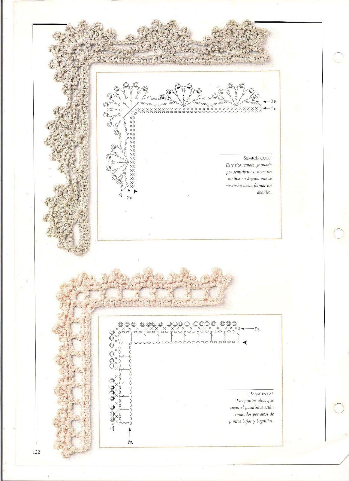 badulake de ana: BORDES DE GANCHILLO PARA MANTELITOS …   Crochet ...