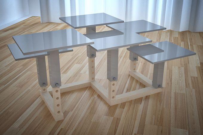 Nannou la table à hauteur variable