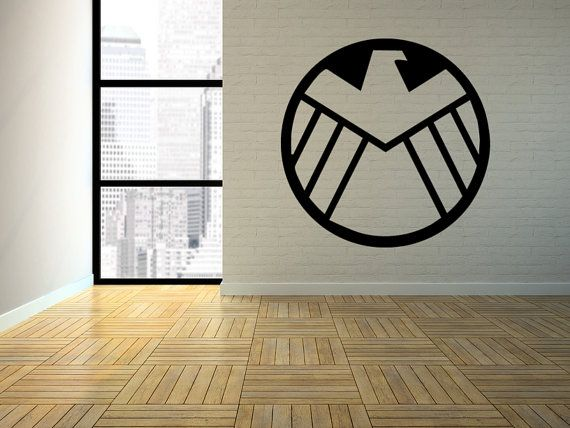 Avengers Agents Of Shield Logo Removable Interior (Matte ...