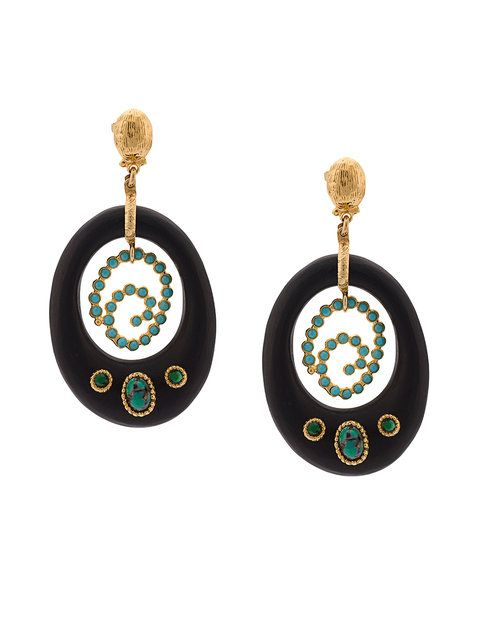 Gas Bijoux Embellished Drop Earrings Gasbijoux