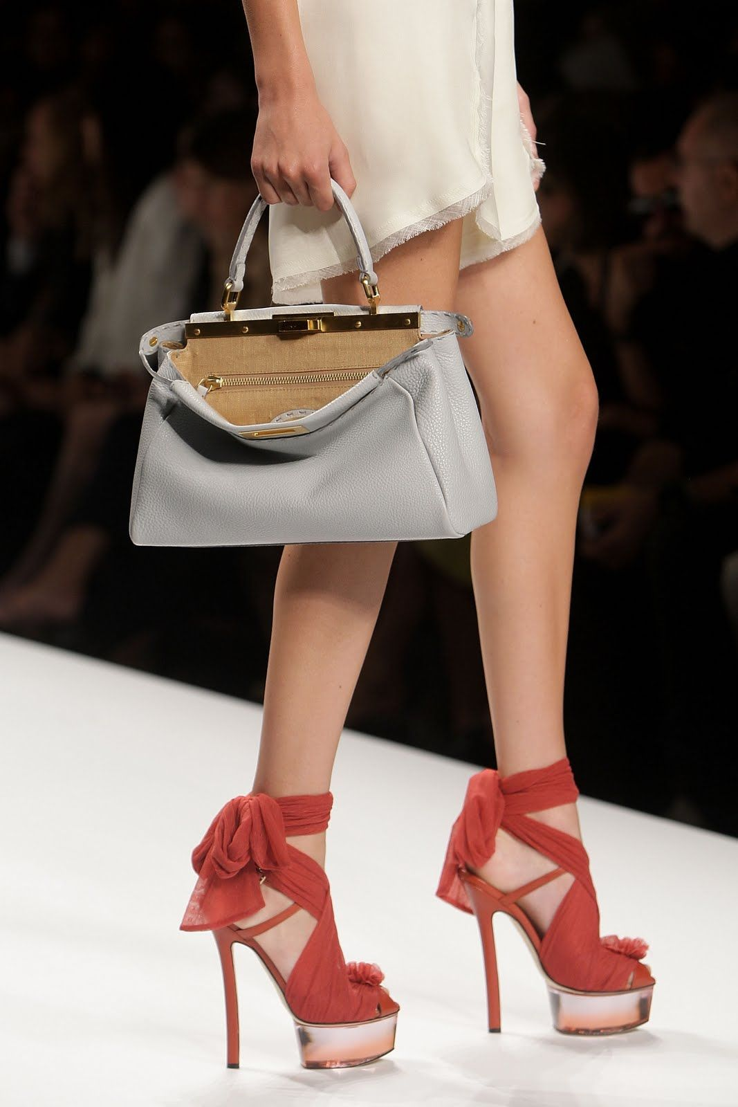 Down to Mars Girl: Fendi Lucite Heels