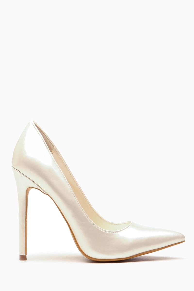 c2b9286b02f7 Pearl Faux Patent Leather Pointy Toe Classic Pumps   Cicihot Heel Shoes  online store sales Stiletto Heel Shoes