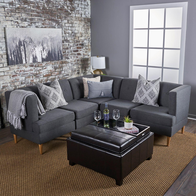 Gray Milton Small Sectional Sofa Set Pier 1 Imports Living Room Grey Small Sectional Sofa Grey Sectional Sofa