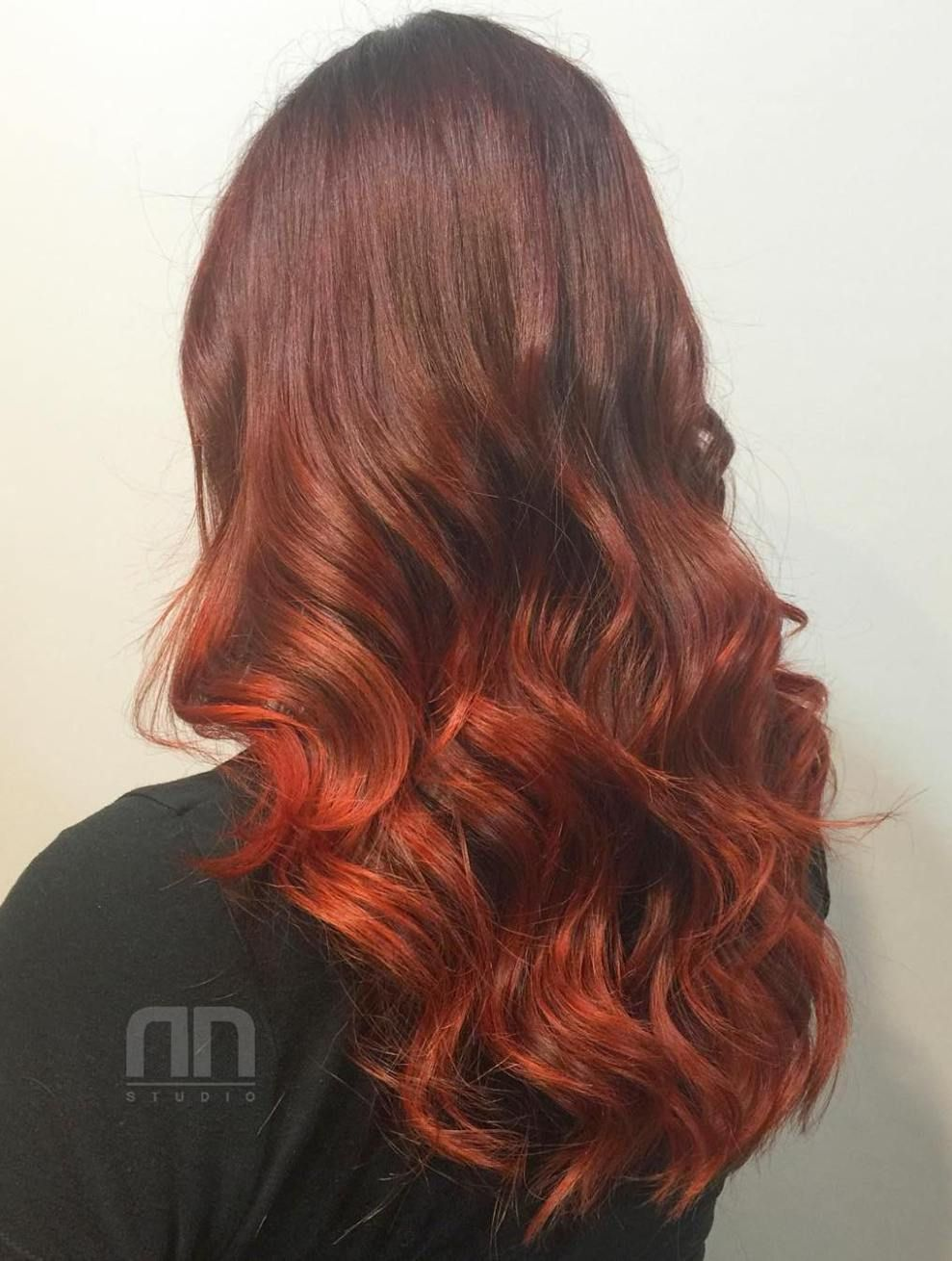 Auburn Hair Colors to Emphasize Your Individuality Red ombre