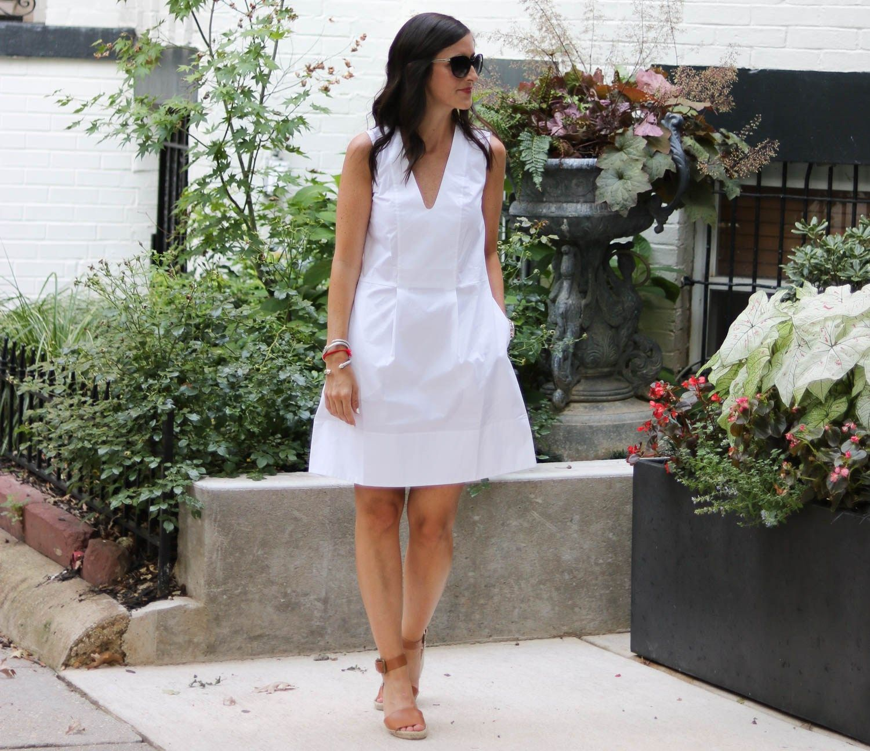 Bright White Sleeveless Dress