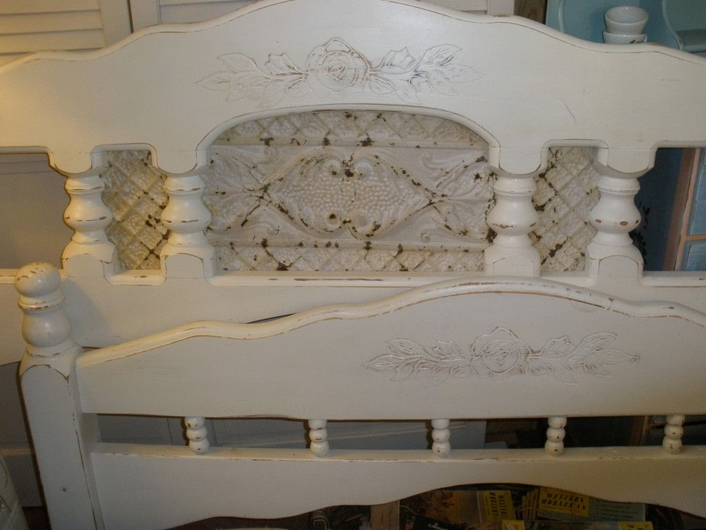 Queen Headboard Footboard Upcycled By Adding A Rustic