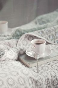 Perfect Saturday morning....coffee in bed