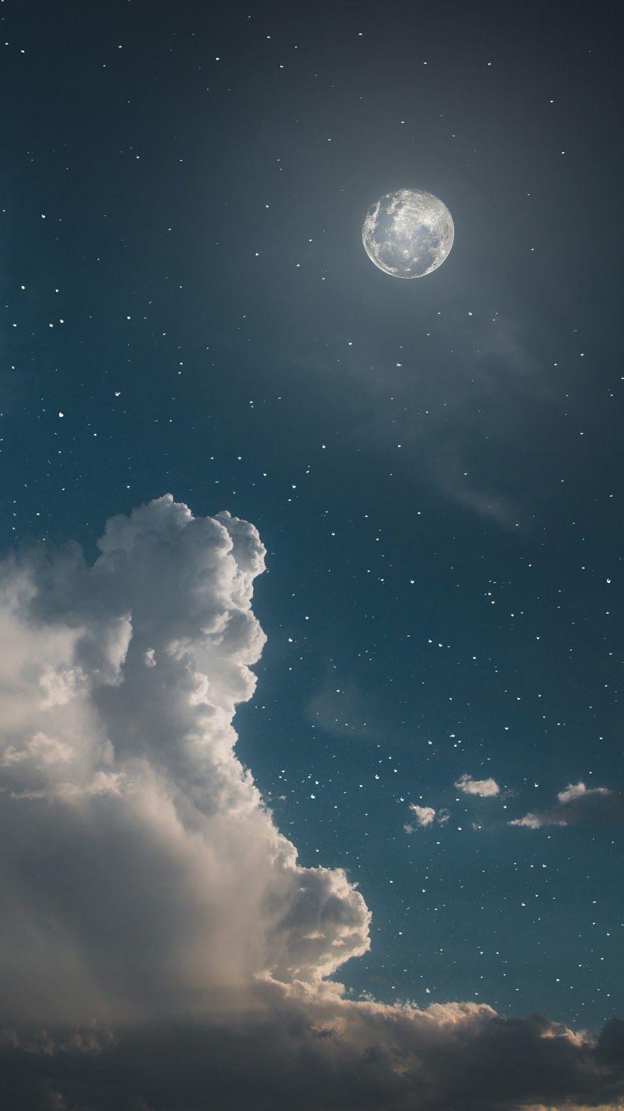 Night sky aesthetic wallpaper Пейзажи, Фоновые