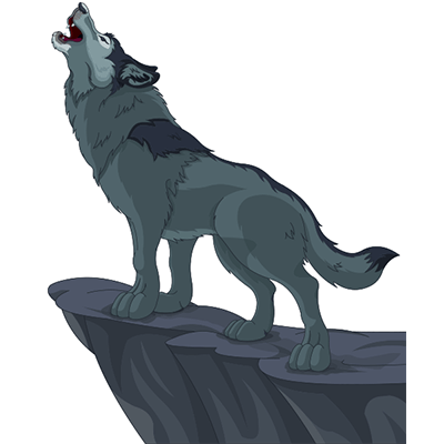 Howling Wolf Png 400 400 Cartoon Wolf Wolf Howling Wolf Illustration