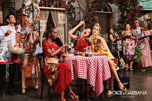 Dolce and Gabbana Spring Summer 2016 Ad Campaign.